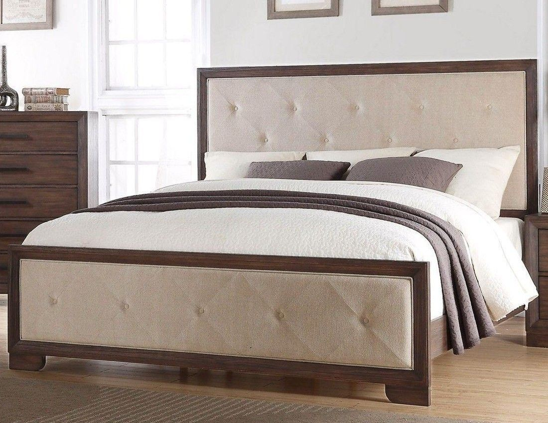 mcferran upholstered weathered wood queen bed b510 q queen beds