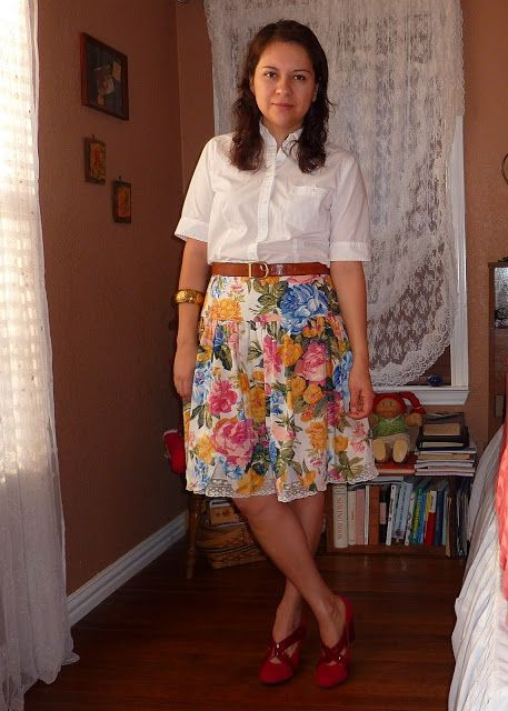 A Skirt a Day: Flower bloom