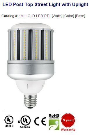 80 120w Led Post Top Replaces Metal Halide And Hps Industrial Led Lighting Led Lights Street Light