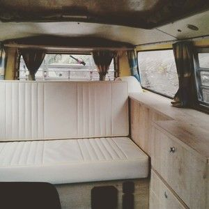 VW camper interior - holiday hire - Scotland.