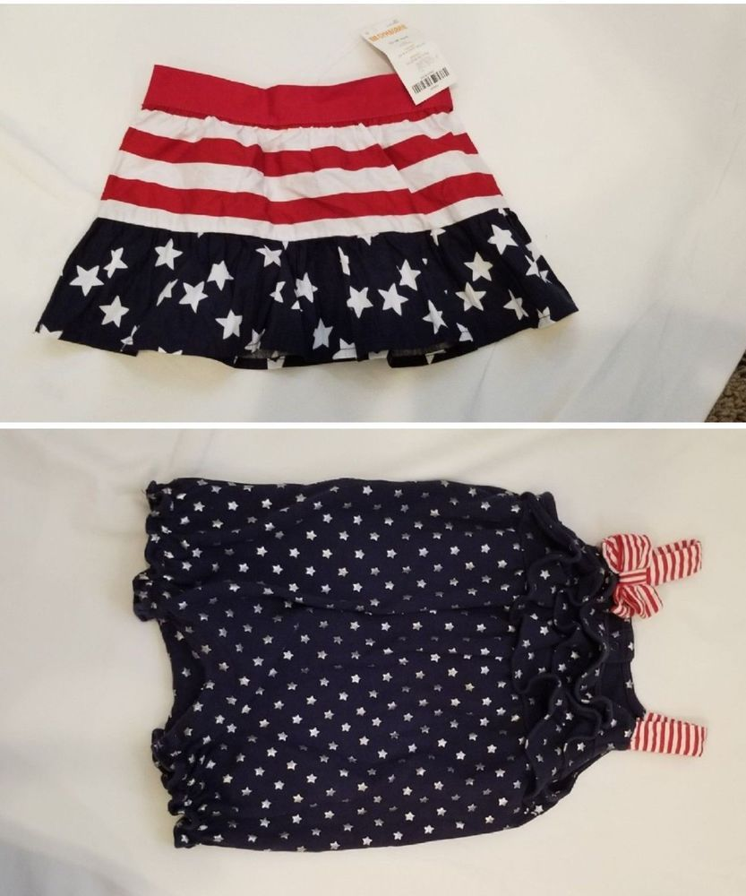 a03dd9f82d36 Darling Baby Romper   Skirt Size 12-18 Month 4th July Red White   Blue  Girls A  Gymboree  EverydayHoliday