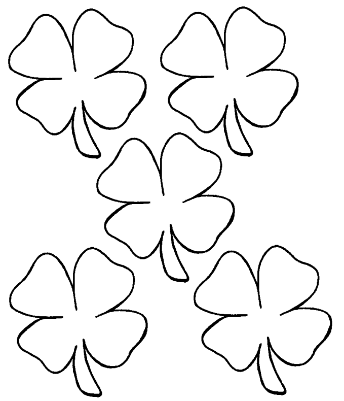 Mesmerizing image within st patrick's day clover printable