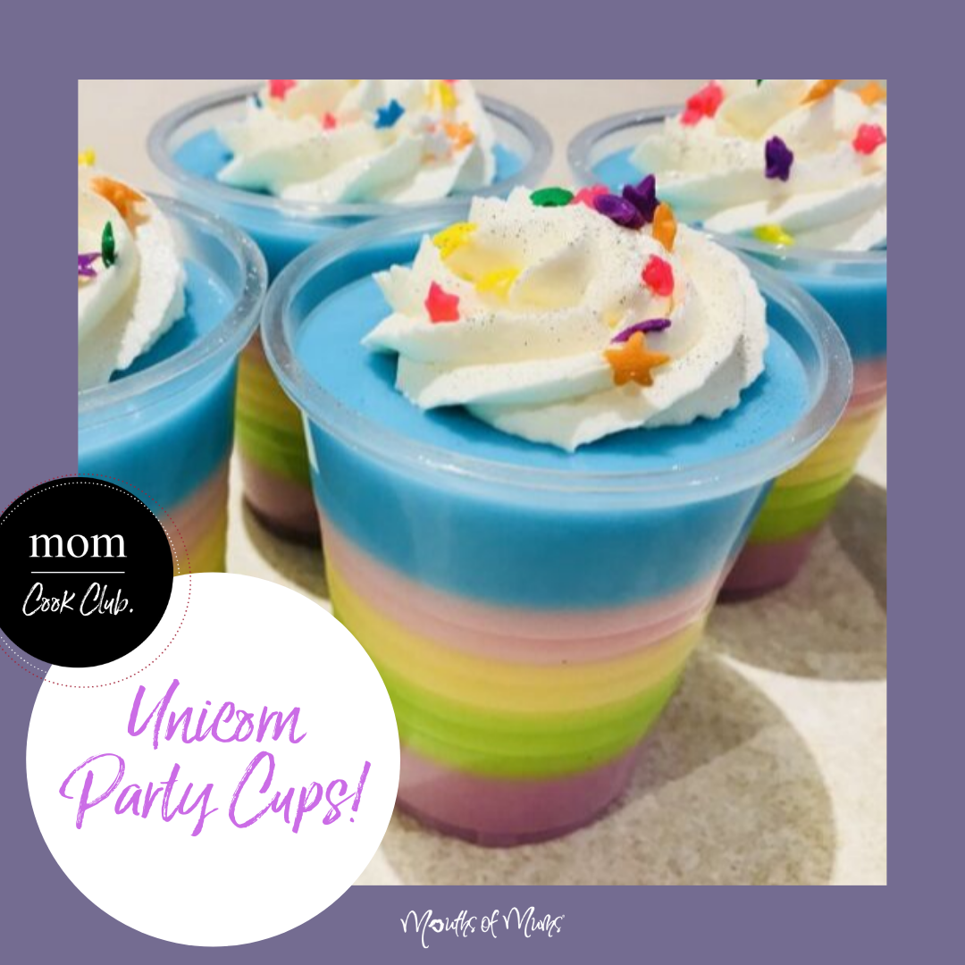 Anyone got a birthday party this weekend?  Even if you're doing a virtual birthday party, these Unicorn Party Cups are perfect for every little unicorn fan.  If you can find some sugar unicorns, add these on top too! Member Recipe for Unicorn Jelly Cups >>  . . #momcookclub #mouthsofmums #nomnom #easyrecipe #delish #homemade #closetohome #sogood #unicornsandrainbows #unicorns #partycups #jellycups #birthdaypartytreats #partytreats
