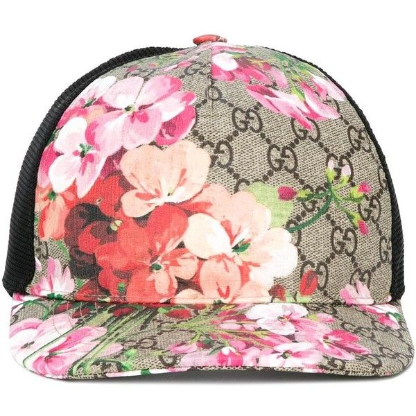 4d957145 Gucci GG Blooms baseball cap ($335) ❤ liked on Polyvore featuring men's  fashion, men's accessories, men's hats, black and gucci mens hat