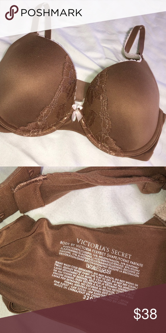 5bec6d3f0 VICTORIA S SECRET BROWN BODY BY VICTORIA BRA 32DD Gorgeous super padded  push up Body by Victoria