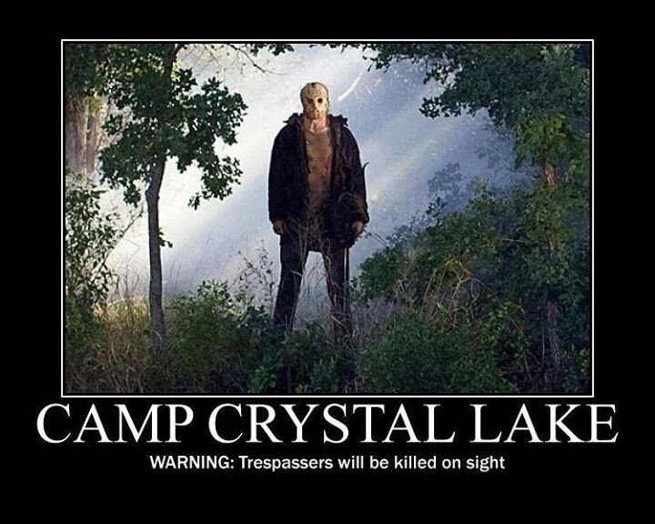 Jason Voorhees   Funny horror, Horror movies memes, Scary ...