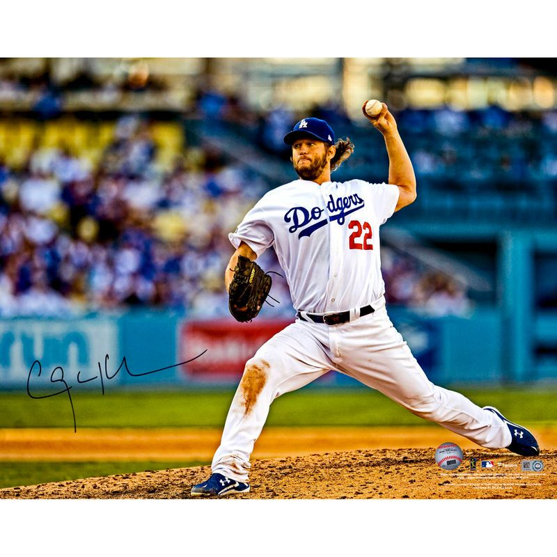 """Clayton Kershaw Los Angeles Dodgers Autographed 16"""" x 20"""" Ball Above Head Photograph"""