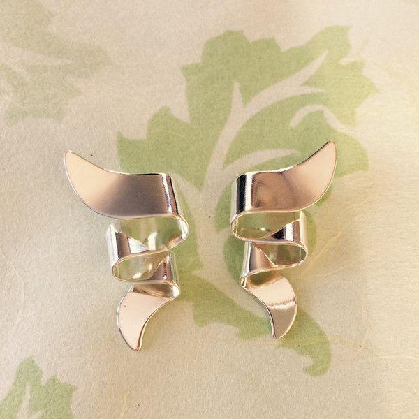 Folded Ribbon Earrings