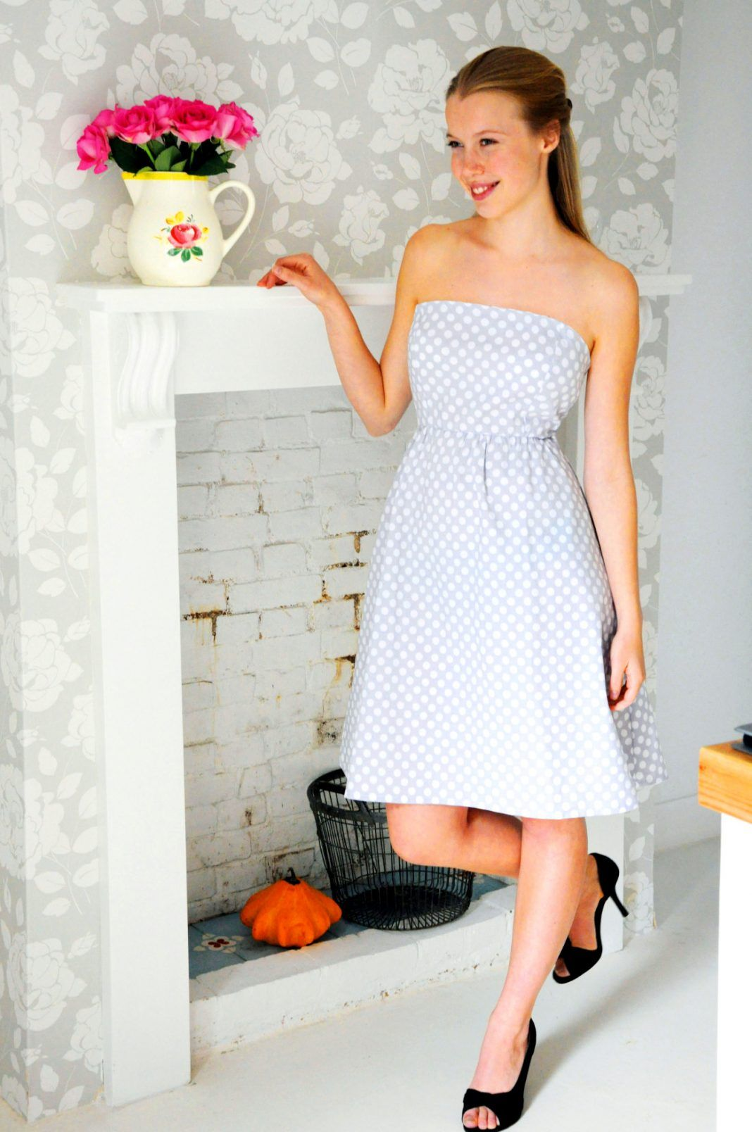Photo of Off shoulder dress – free sewing instructions