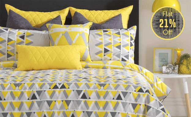 Tulum Quilt Cover Set by Bambury | BLOG | Pinterest | Quilt cover ... : yellow quilt cover - Adamdwight.com