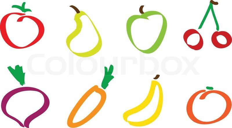 how to draw vegetables easy