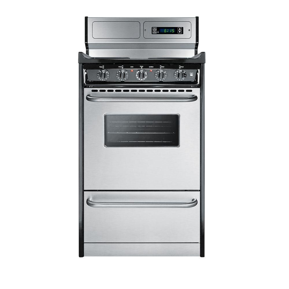 Summit Appliance 20 In 2 46 Cu Ft Electric Range In Stainless