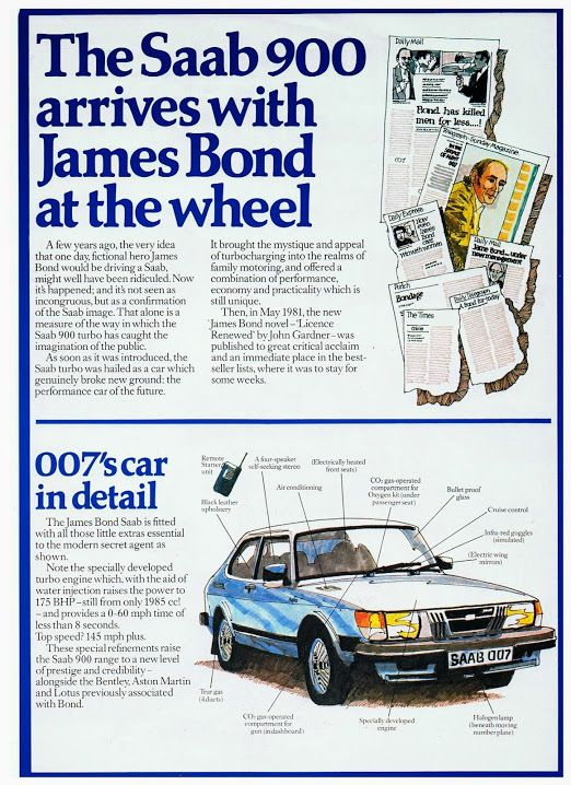 The James Bond 007 Saab 900 Turbo