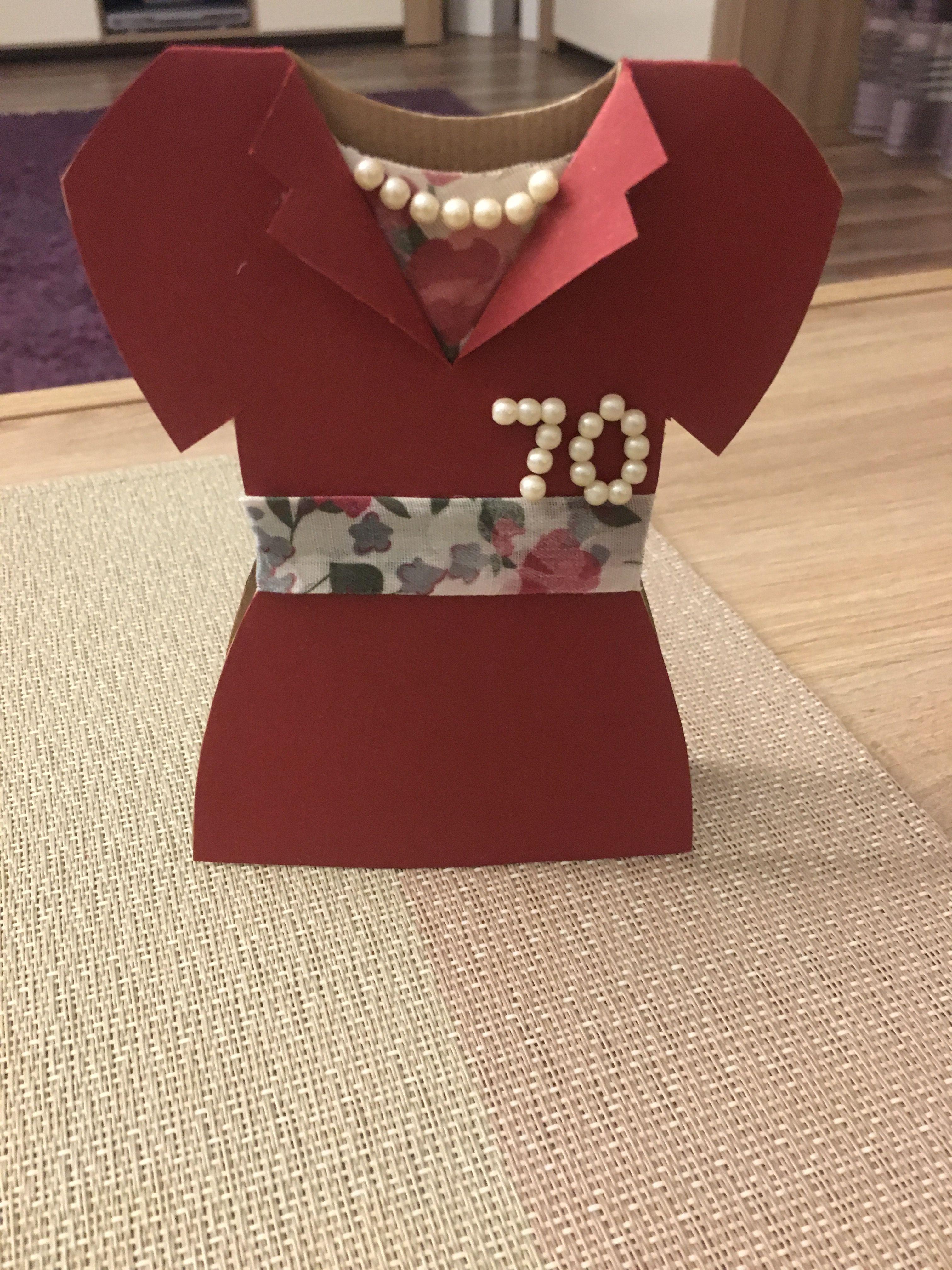 Birthday Card 70th Present Dress Women Grandma Gift Elegant