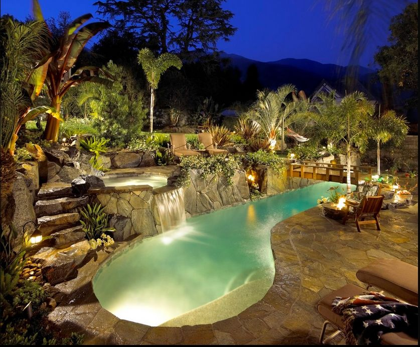 Ah - the perfect pool! summer Pinterest Piscinas, Cascadas y