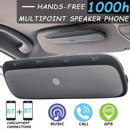 Wireless h Multipoint Handsfree Speakerphone Kit Car Sun Visor Clip With Iron Holder + Car + USB Cable - Connecting TWO Phone At The Same Time - As Gifts - Walmart.com