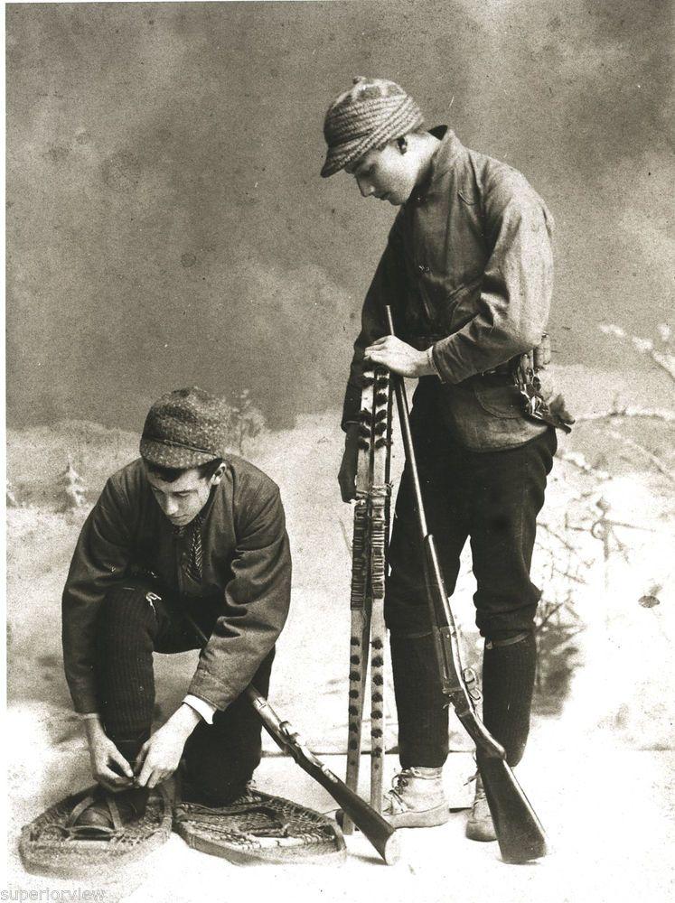 Old Time Snowshoe Hunters 1890 Vintage Snowshoes Marquette