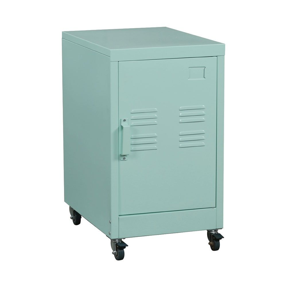 Industrial Collection Metal Rolling Locker Storage Cabinet - Green ...