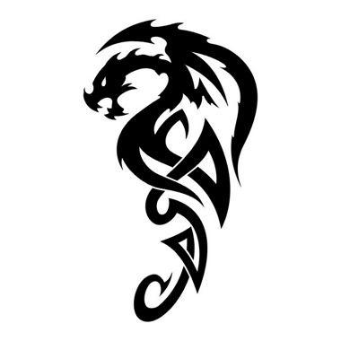 Dragon Tribal Tatouage tatouage dragon tribal | dragons | tattoos, dragon tattoo stencil