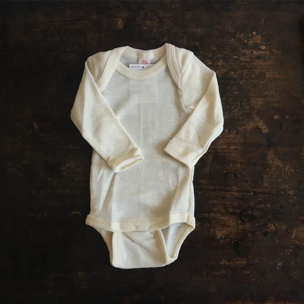 100/% Organic Merino wool base layer Long sleeved shirt vest Newborn