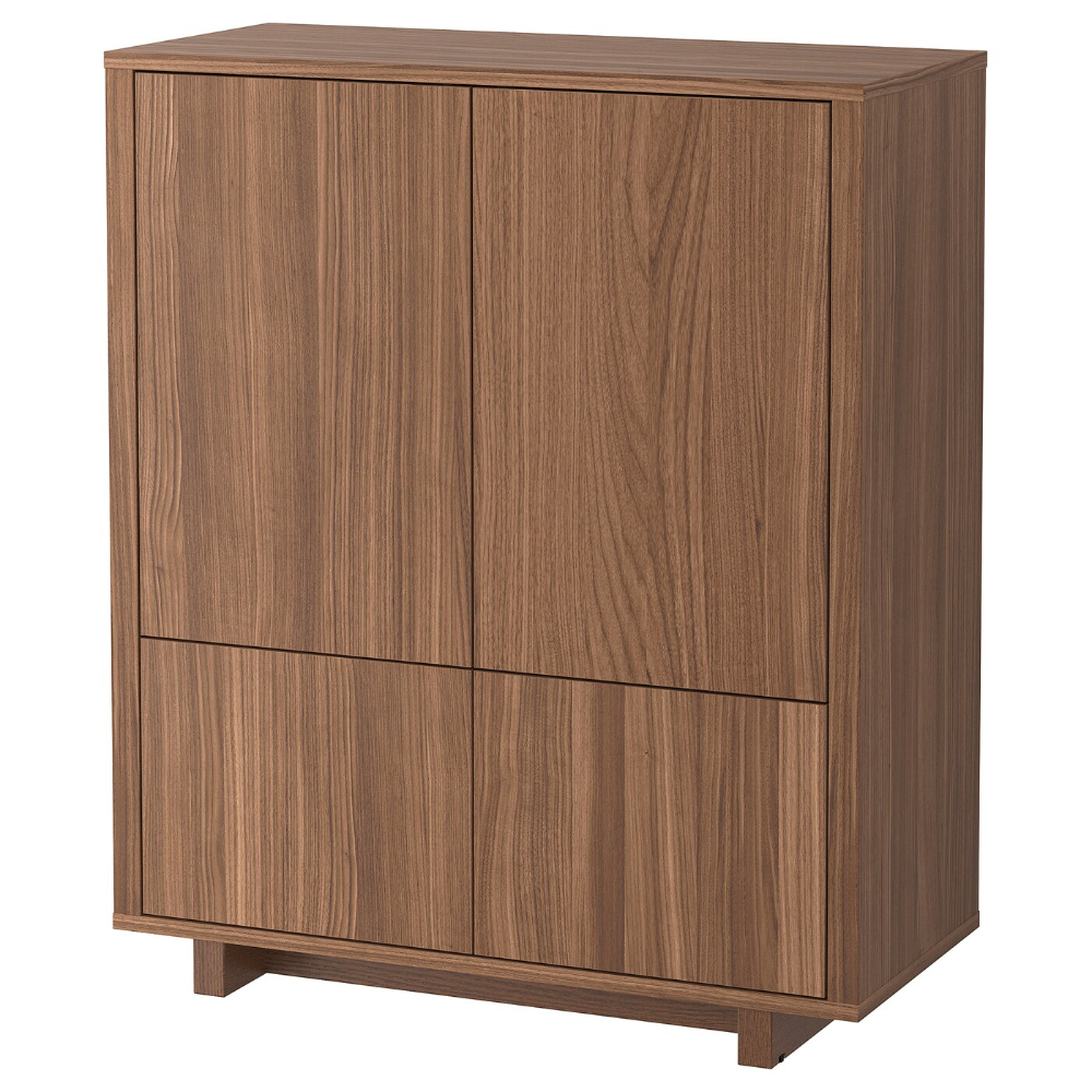 Photo of STOCKHOLM Cabinet with 2 drawers – walnut veneer – IKEA