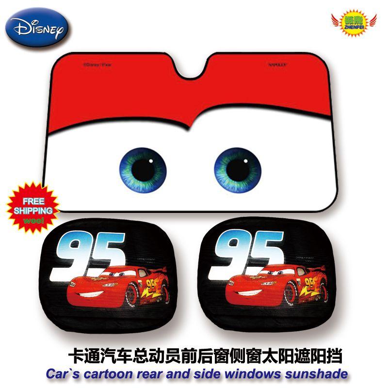 Car accessories Cartoon Cars, Rear and side window sunshade Foils ...