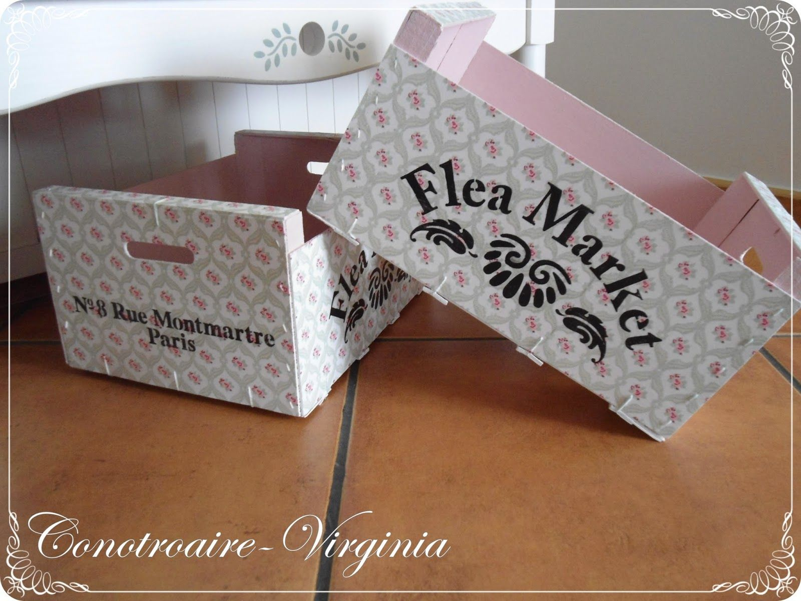 Con otro aire cajas de frutas recicladas - Manualidades con cajas ...