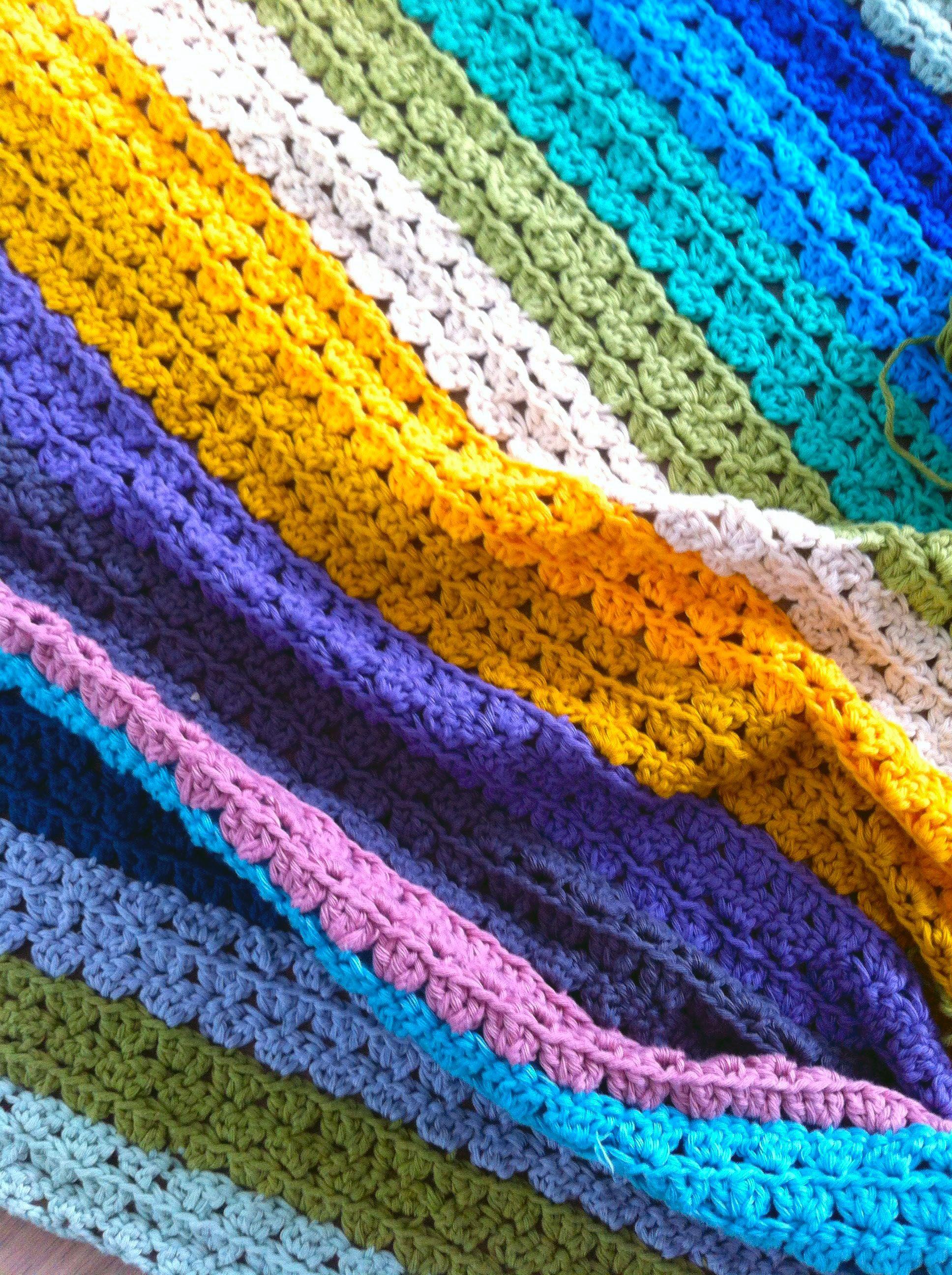 Multicolour Crochet Blanket Babydeken Haken Crochet Pinterest