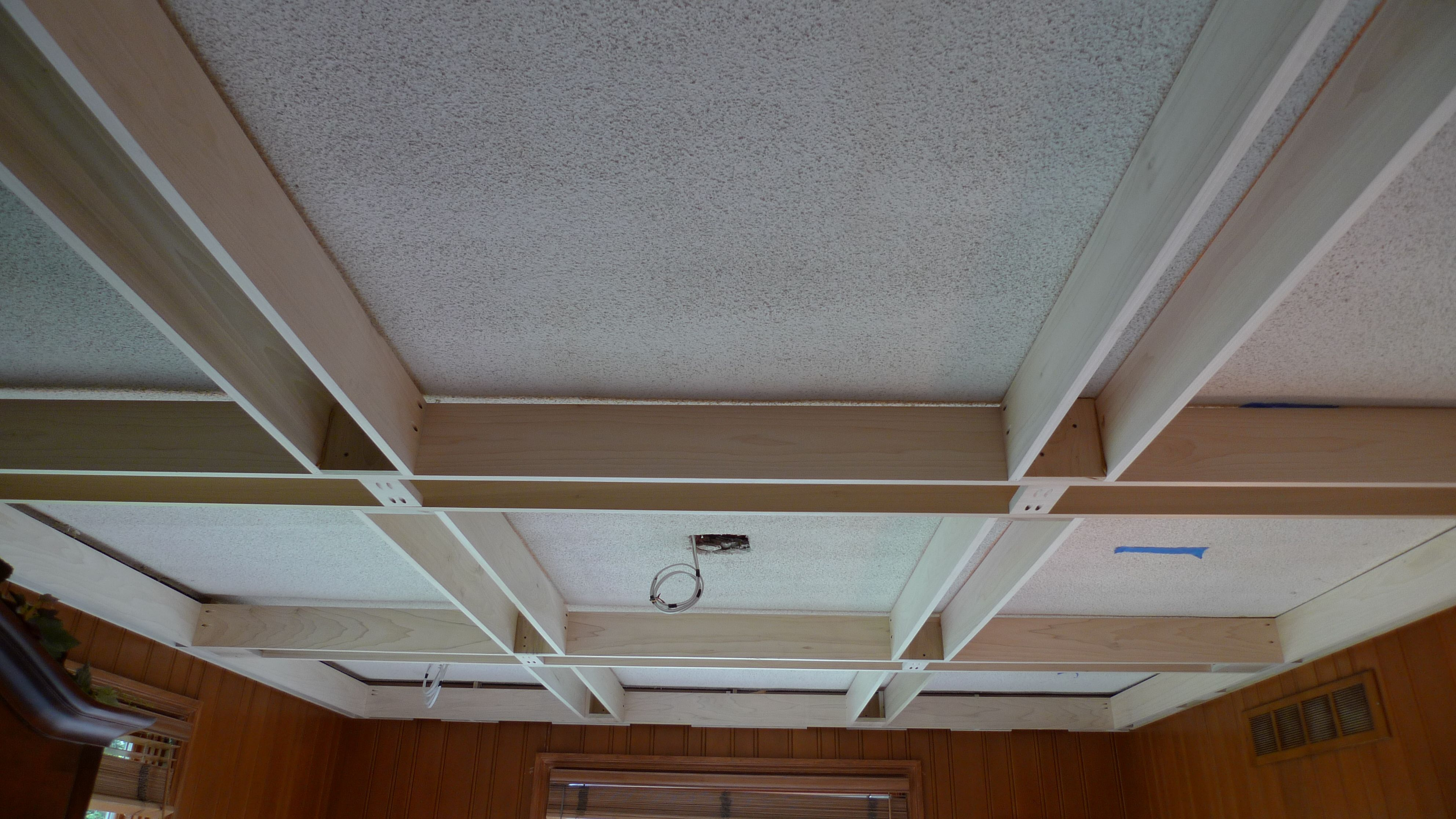 Poplar coffered ceiling coffer ceiling and ceilings for Coffered ceiling styles