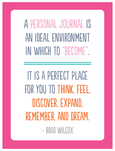 A Personal Journal Is An Ideal
