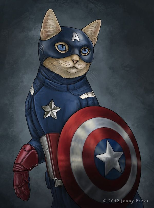 What Superheroes Would Look Like If They Were Cats - DesignTAXI ...