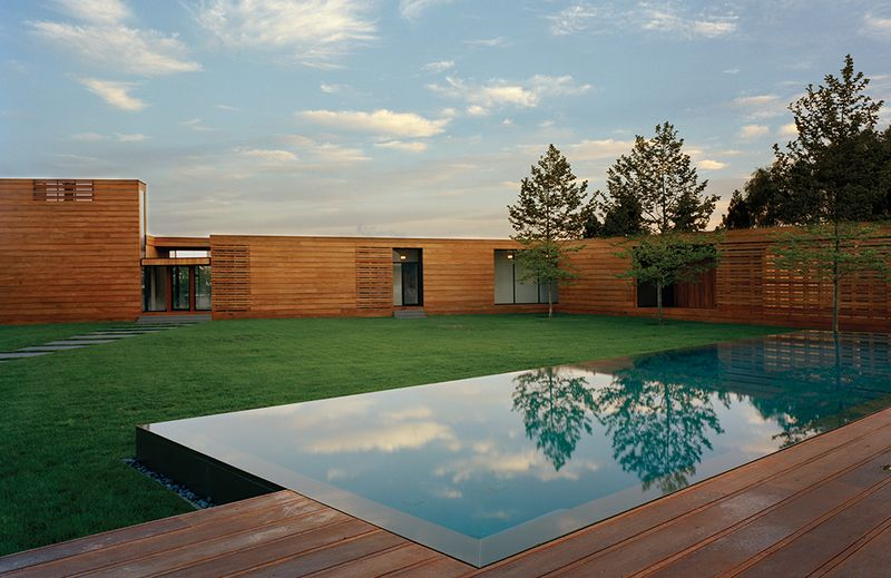 Modern Wood Lined Family Home in the Hamptons