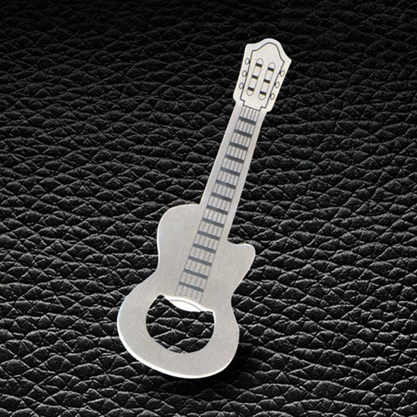 Gift Zinc Alloy Beer Guitar Bottle Opener Key Chain Creative Kitchen  Accessories Key Ring Openers