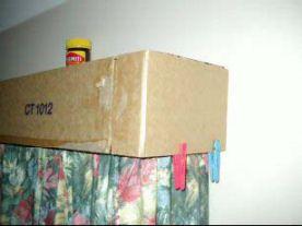 Cardboard pelmet