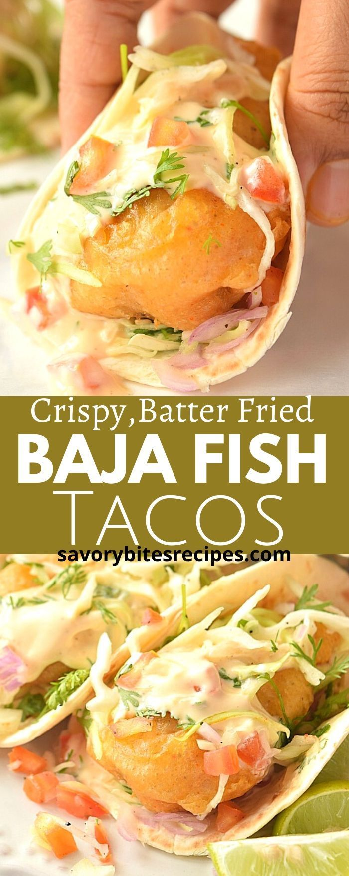 Crispy Batter Fried Baja Fish Tacos!