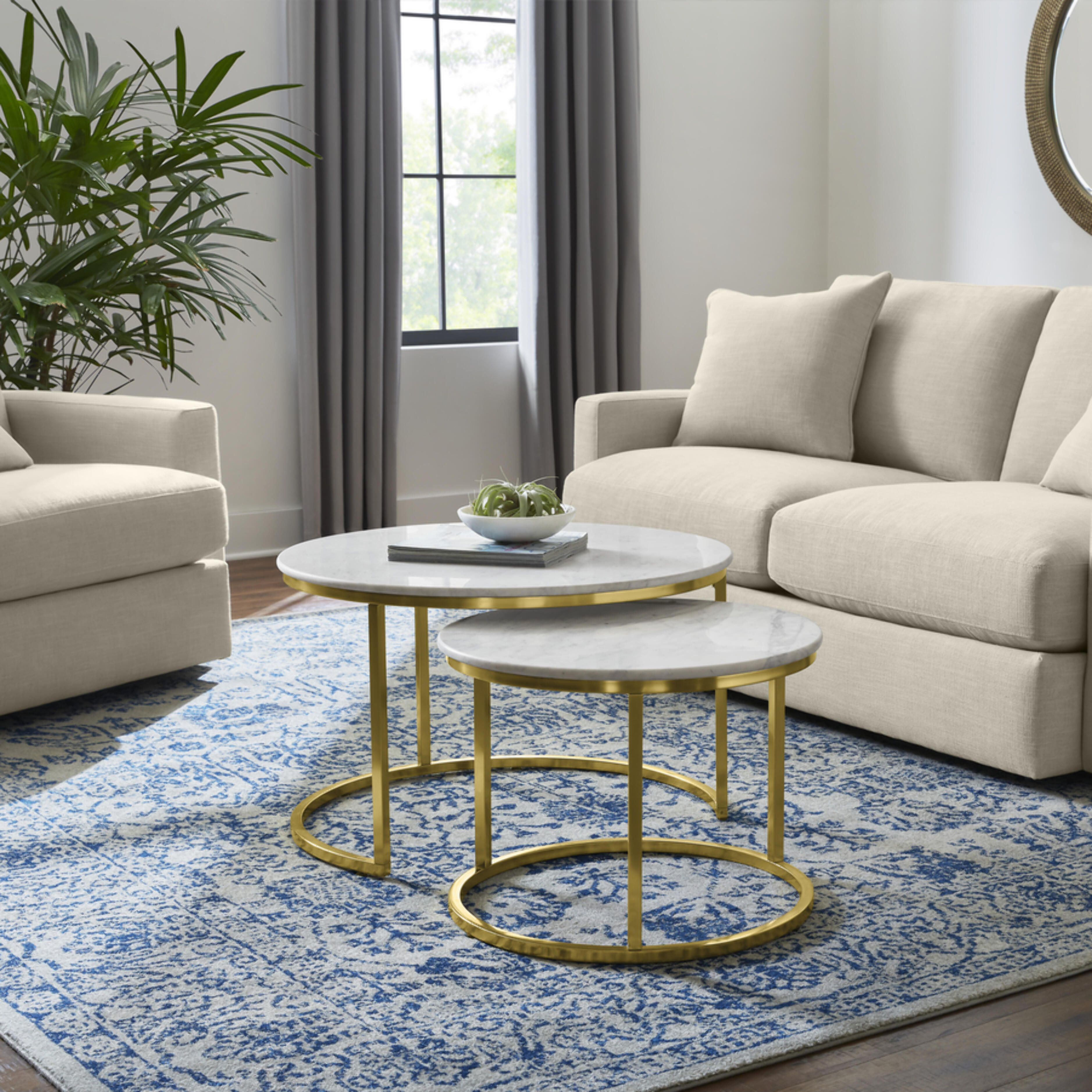 Home Decorators Collection Cheval 2 Piece 31 In Gold Marble Medium Round Marble Coffee Table Set Dc18 56100 The Home Depot In 2021 Coffee Table Marble Coffee Table Set Marble Round Coffee Table [ 3755 x 3755 Pixel ]