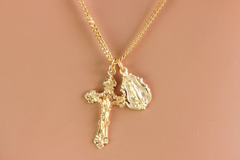 Crucifix Locket Necklace Confirmation Locket Womens Locket Silver Cross Locket Religious Locket Catholic Jewelry Silver Locket Gift WEDDING