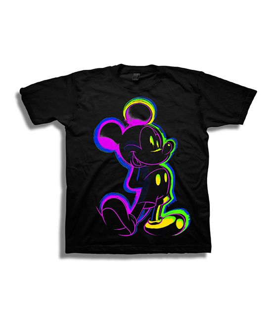 4ac68ff18 Mickey Mouse Neon & Black Lines Tee - Boys   Products