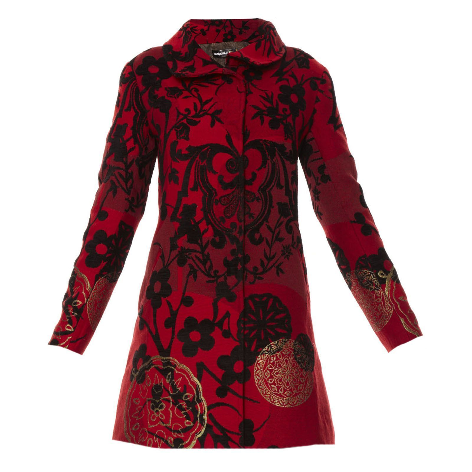 Rouge Desigual Nouvelle Collection Manteau Electric Et Love 76gvYbfyI
