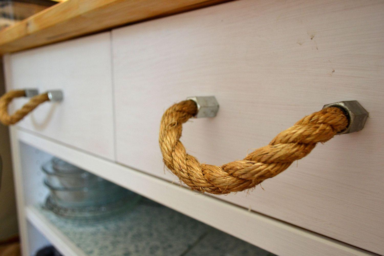 Rope Drawer Handle, Cabinet Pull: Steel Nut Hexagonal End, SKU11011 ...