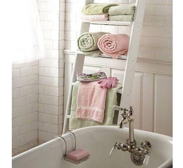 Scala decorativa porta asciugamani per il bagno | ...Bathroom ...