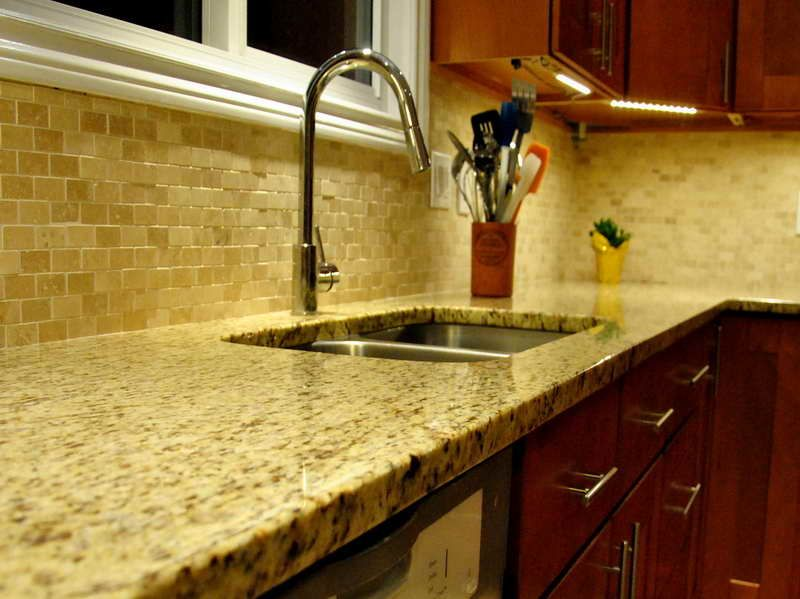 Granite Backsplash Ideas Part - 32: New Venetian Gold Granite For The Kitchen Backsplash Ideas With Metal .