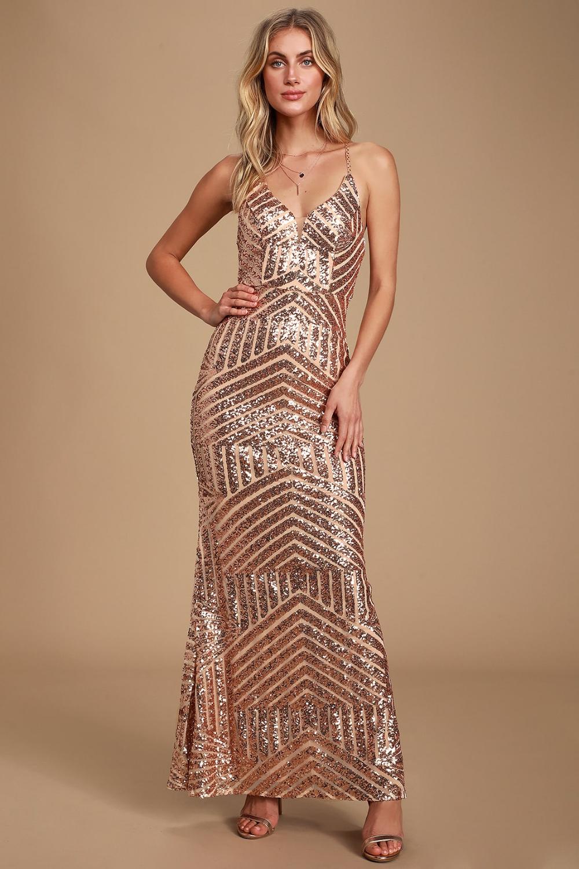 Love The Spotlight Rose Gold Sequin Sleeveless Maxi Dress Maxi Dress With Sleeves Long Sleeve Maxi Dress Sequin Maxi Dress [ 1500 x 1000 Pixel ]
