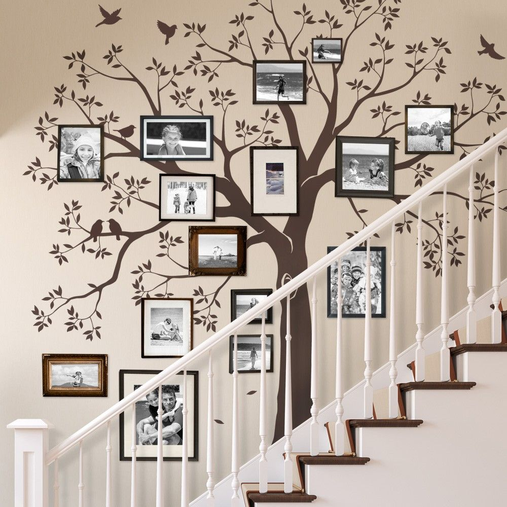Staircase family Tree Wall Decal - Tree Wall Decal, Organic giant ...