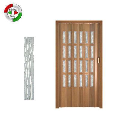 Porte Pliante En Verre Doublure En Effet Bois Pvc Chene Blanc 82 X 220 A14172 Porte Accordeon Porte Pliante Portes