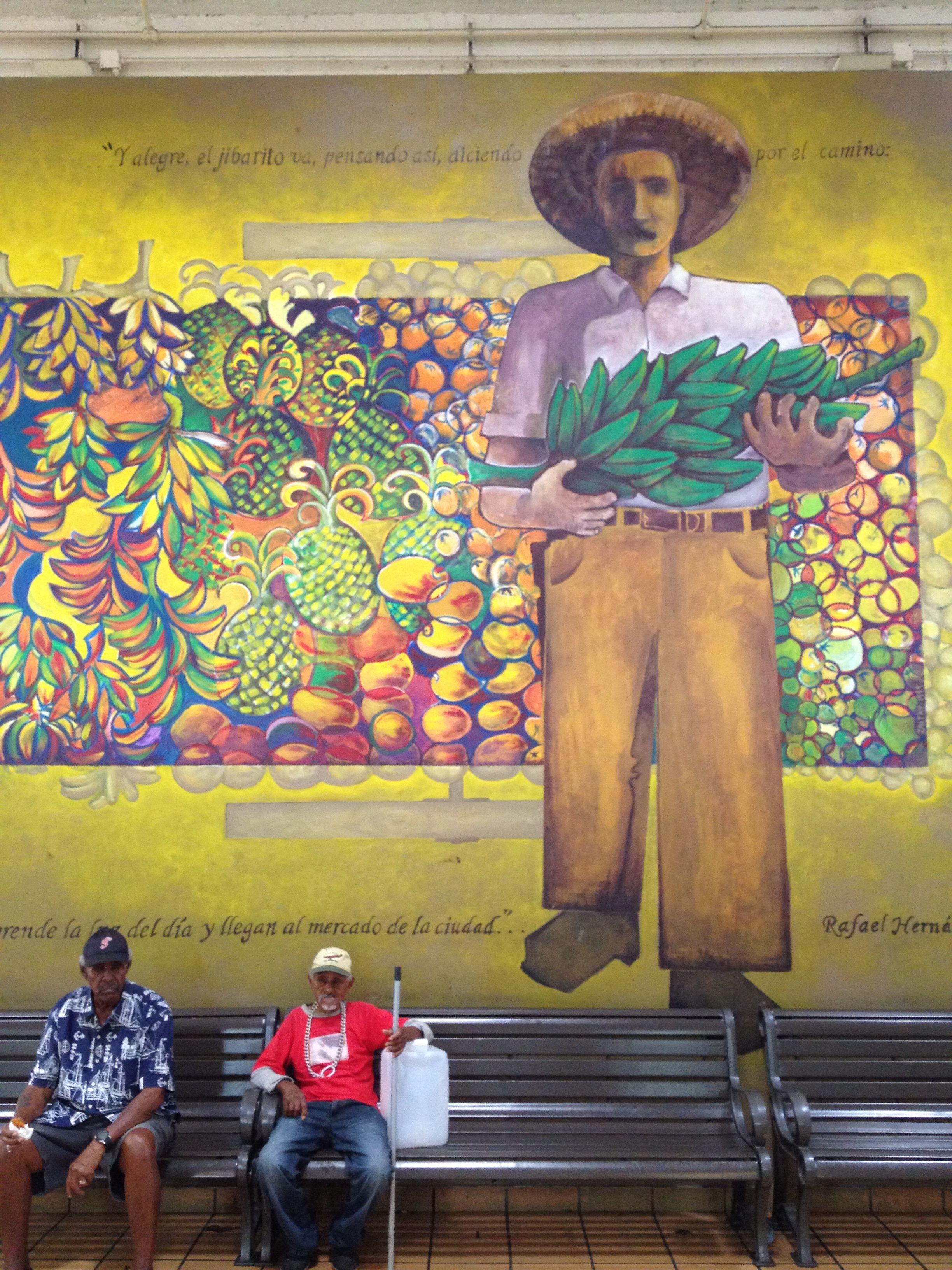 Mural seen in oldest farmer\'s market in the Caribbean in San Juan ...