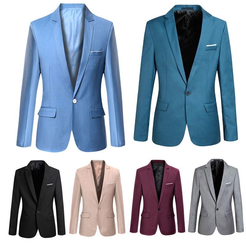 S-6XL Men/'s One Button Blazer Retro Dress Formal Coats Jackets Suit Slim Fit New