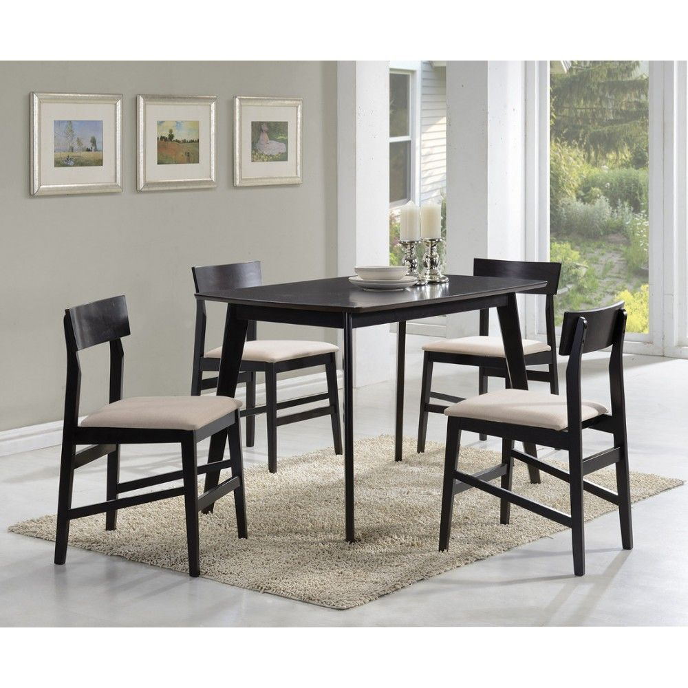 Esszimmermöbel Set Coaster Contemporary 5 Pc Dining Set In Warm Grey Classy Dining