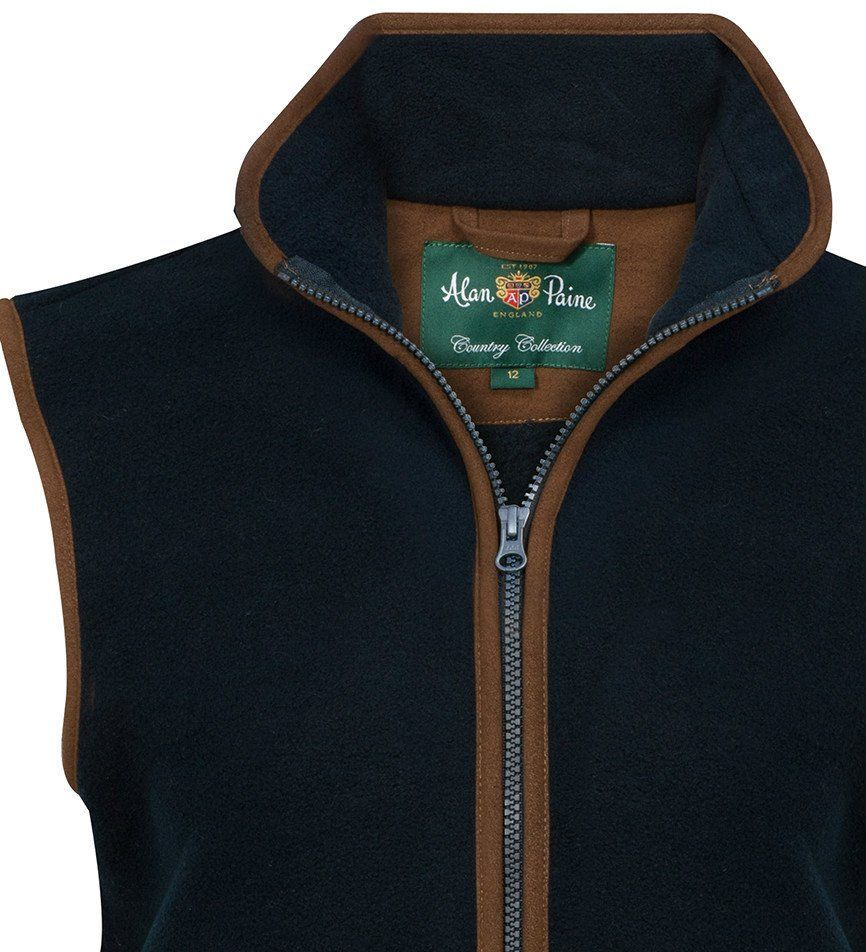 07d42121b4e6 Aylsham Country Ladies Fleece Waistcoat in Dark Navy 1