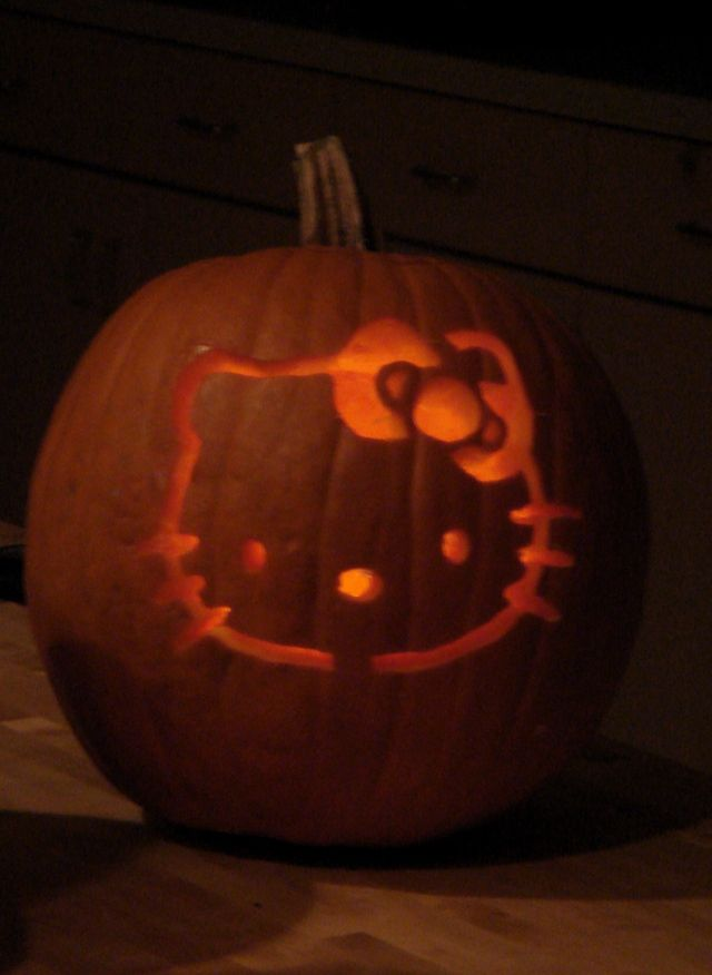 Cute Pumpkin Carving Ideas of all had a witch pumpkin for athis - hello kitty halloween decorations